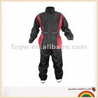 2pcs black and red motor rain clothing
