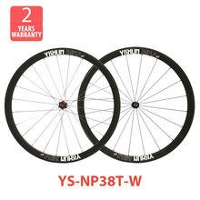 2014 YISHUNBIKE factory direct 38mm tubular light weight wheels 2:1 ratio straight pull road wheel set