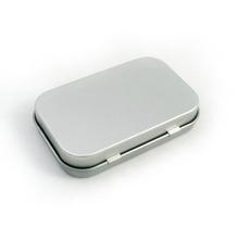 custom small metal hinged lid tin box food grade