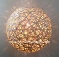 la naturaleza de bambú de artesanía bola colgante sombra de la lámpara de araña