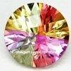 mix-colored round cubic zirconia semi-precious gems