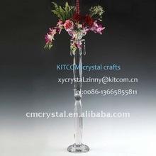 fashion wedding centerpiece crystal tall flower stand