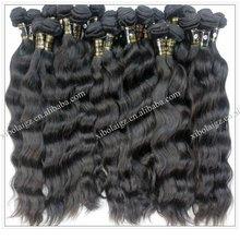 100% virgin brazilian hair weaving natural color full cuticle brazilian wavy hair