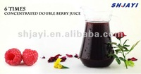 6 times concentrated double berry juice with pulp