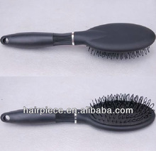 Micro ring hair extension loop brush, black wig loop brush for hair extension
