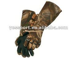durable waterproof Camo Neoprene fishing gloves