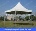 Sexangle pagode& estrutura de alumínio hexágono pagode casamento tendas para venda