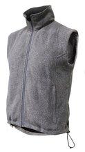 Sleeveless polar fleece vest, electric waistcoat