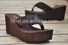 women high heel wedges flip flop