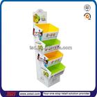 TSD-C198 Custom pop 4 tier floor paper supermarket shelf/ fruit shop displays/shipper cardboard display