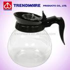 Restaurant Glass Coffee Jug with Black Plastic Handle