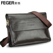 men cow leather messenger bag/ men shoulder bag