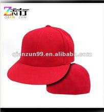 retro fitted flat brim baseball cap and hat