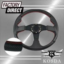 350mm Carbon Fiber Drift Steering Wheel (PVC)