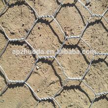 hot-dipped galvanized/ PVC coated hexagonal gabion box/gabion wire mesh/ factory