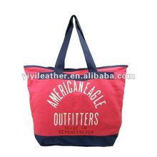 T044-2013 Latest canvas bags digital printing fashion handbags