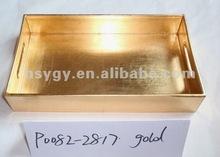 Gold plastic tray,pp plastic tray