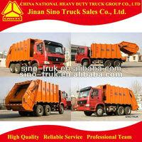 Popular HOWO 6*4 garbage truck 10 tons
