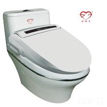 white plastic automatic toilet seat cover
