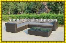 SIMEC custom make all weather outdoor artificial PVC rattan sofa lounge