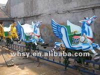 Outdoor playground equipment amusement horse rider