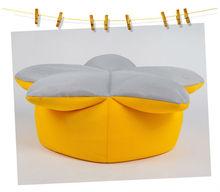 Stylish Breathable Air Mesh Mini Sunflower Bean Bag Chair Cover for Kids