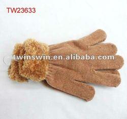 2013 New Arrival Fashion Ladies fashion cotton gloves warm hand gloves