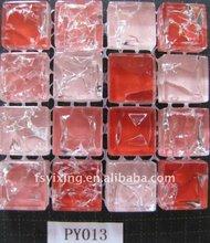 Red ice crackled vidro contador do banheiro top