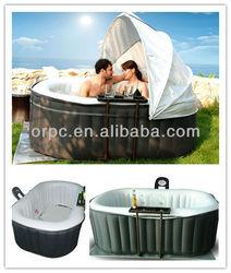 MSpa Inflatable Spa pool, Oval 2 person Hot Tub,air bubble spa Alpine B-100