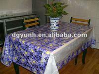 waterproof clear pvc printed table cloth