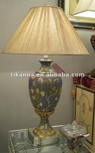antique wood table lighting