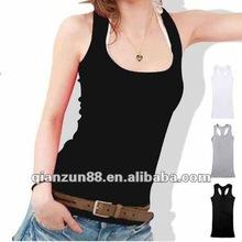 hot sale ladies 100% cotton vest/tank top