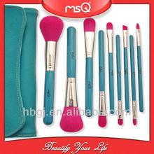 2012 newest style 9 pcs professional best seller makeup brush sets FREE SAMPLES