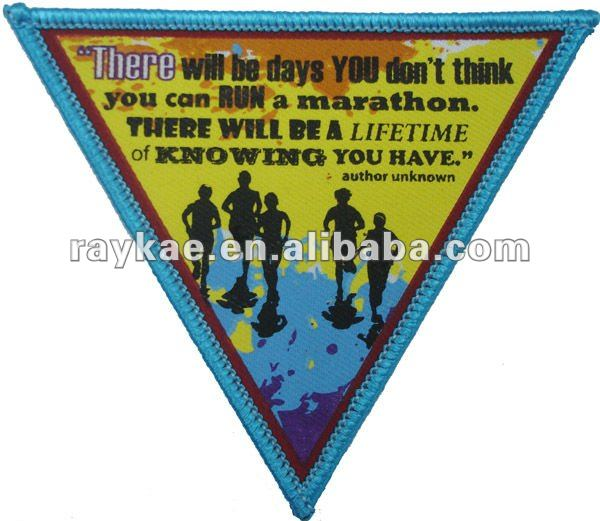silk screen printed embroidery iron on label