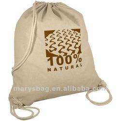 8oz Natural Canvas Drawstring Bag