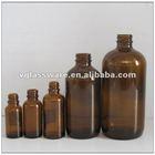 amber pharmacy glass bottle