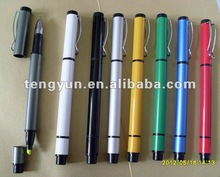 two function aluminum ball pen TY001with highlighter,promotion pen