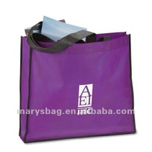 Polypropylene Oversized Tote Bag with Black Seam Lines