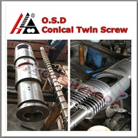 55/110 conical twin screw barrel for plastic extrusion(conical twin screws and barrel/cylinder for pipe/profile extruder)