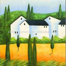 United Kingdom Suburbs Landscape Oil Painting