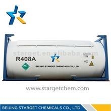 R408A mixing refrigerant gases for low temperature refrigeration systems