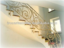 decorative wrought iron villa stair s-003
