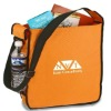 polyester sling tote with mesh pocket for water bottle