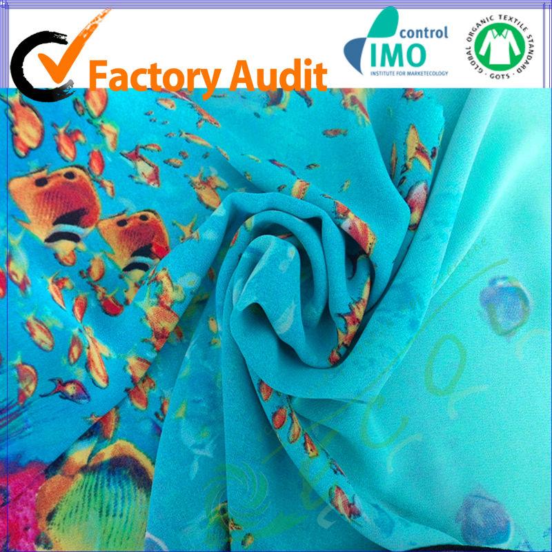 NO MOQ digital printed polyester fabric