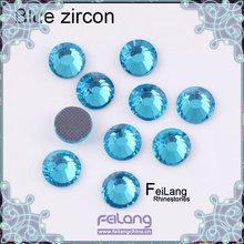 Blue zircon ss30 DMC machine cut hotfix glass rhinestones