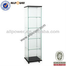 Professional glass and wooden Jewelry display case and stand (BS400)