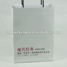 Paper bags with die cut handles export