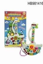 Spanish electric cartoon guitar boat, children educational music toys