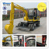 Famous brand and new full hydraulic 6ton wheel excavator 4WD( WYL65x4--8)