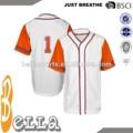 Venta al por mayor nuevo diseño de uniformes de béisbol, camisetas de béisbol